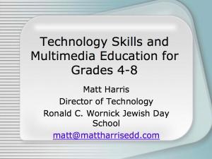 2006 CITEA - Technology Curriculum K-8 - Matt Harris, Ed.D