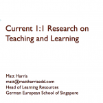Current One-to-one Research on Teaching and Learning – LLI 2011