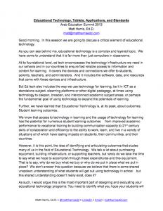 2013 AES - Educational Technology, Tablets, Applications, and Standards (Speech Transcript) - Matt Harris, EdD