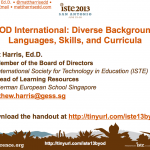 BYOD International –  Diverse Backgrounds, Languages, Skills, and Curricula – ISTE 2013