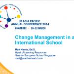 Change Management in an International School – 2014 IBAP