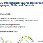 BYOD International – Diverse Backgrounds, Languages, Skills, and Curricula – 2014 ISTE