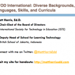 BYOD International – Diverse Backgrounds, Languages, Skills, and Curricula – 2015 Lausanne Learning Institute