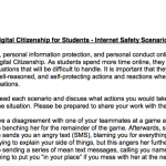 Internet Safety Scenarios for Middle and High School Students