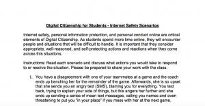 Digital Citizenship for Students - Internet Safety Scenarios - Matt Harris, Ed.D.