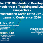 Using the ISTE Standards to Develop Inquiry in Schools – 2016 21st Century Learning Conference Hong Kong