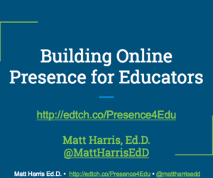 Building Online Presence for Educators – BSJ 2017