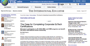 TIEOnline: The Case for Completing Corporate EdTech Certifications