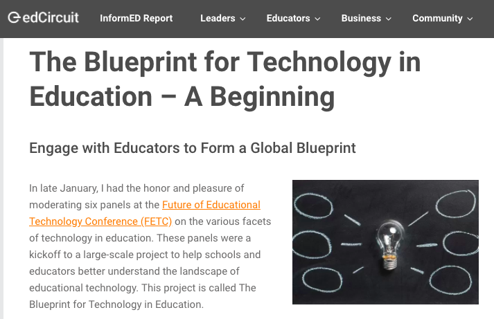 The blueprint for technology in education a beginning edcircuit the blueprint for technology in education a beginning edcircuit malvernweather Choice Image