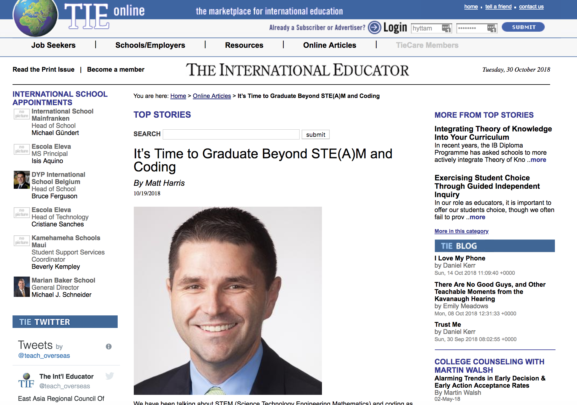 It's Time to Graduate Beyond STE(A)M and Coding - TIEOnline