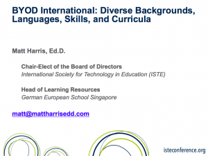 BYOD International - Diverse Backgrounds, Languages, Skills, and Curricula - 2014 ISTE