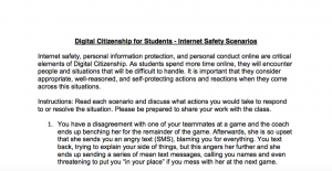 Digital Citizenship for Students - Internet Safety Scenarios - Matt Harris, Ed.D.