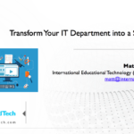 Transform Your IT Department into a Service Unit – 21CLHK 2017