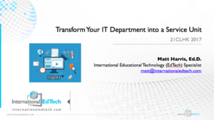 Transform Your IT Department into a Service Unit - 21CLHK 2017