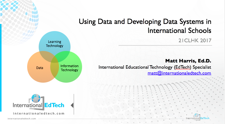 Using Data and Developing Data Systems in International Schools – EARCOS 2018