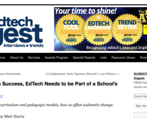 For Long-Term Success, EdTech Needs to be Part of a School's DNA