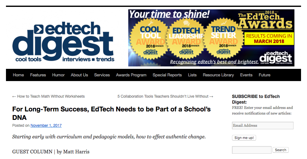 For Long-Term Success, EdTech Needs to be Part of a School's DNA – EdTech Digest