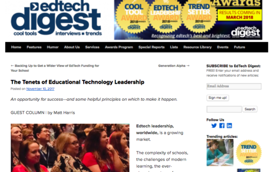 The Tenets of Educational Technology Leadership: Introduction – EdTech Digest