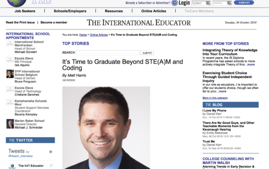 It's Time to Graduate Beyond STE(A)M and Coding – TIEOnline