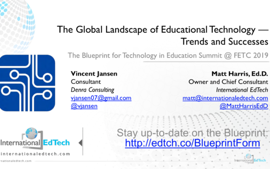 The Global Landscape of Educational Technology – Trends and Successes – FETC 2019