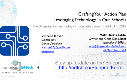 Crafting Your Action Plan – Leveraging Technology in Our Schools – FETC 2019