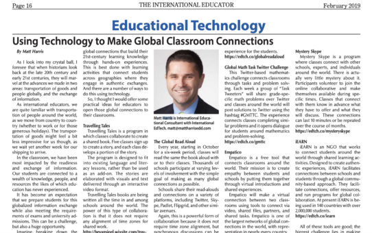 Using Technology to Make Global Classroom Connections – TIEOnline