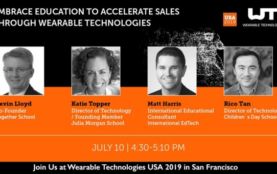 Wearables 5 – Join Us at Wearable Technologies USA 2019 in San Francisco