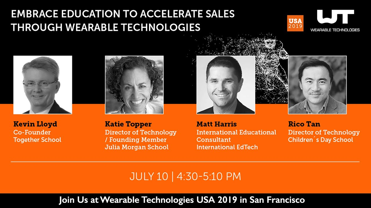 Wearables 5 - Join Us at Wearable Technologies USA 2019 in San Francisco